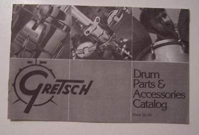Gretsch American Drum Vintage Parts Catalog Techware Catalogue