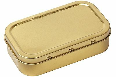 Tobacco Tin 1oz / 50ml Gold