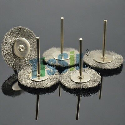 40mm 10PC 1/8Inch Shank Wire Steel Wheel Brushes Wheel For Rotary Tools