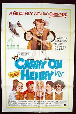 Carry On Henry 1971 1 Sheet Poster Sid James Kenneth Williams Barbara Windsor