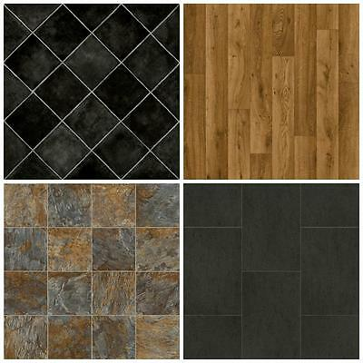 Cheap Vinyl Flooring-Brand New Lino-3m Wide. Non Slip-Free Delivery. Wood & Tile