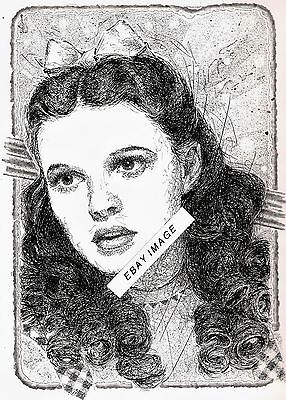 8 1/2 x 11 Artists-Print Of Judy Garland Art As Dorothy In THE WIZARD OF OZ