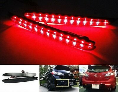 Axela Mazda3 2010+ Black Smoked Lens Bumper Reflector LED Tail Brake Stop Light