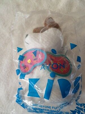 New in Pkg  1999 AVON Full o' Beans BIRTHSTONE NOVEMBER *** SCOUT THE TERRIER