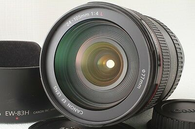 [Near Mint]Canon EF 24-105mm f/4 f4 L IS USM Lens w/Hood F/S EMS From Japan(579)