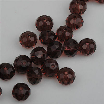 100pcs purple red exquisite Glass Crystal 3*4mm #5040 loose beads@
