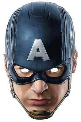 Captain America Avengers Age of Ultron Official Card Party Face Mask Chris Evans