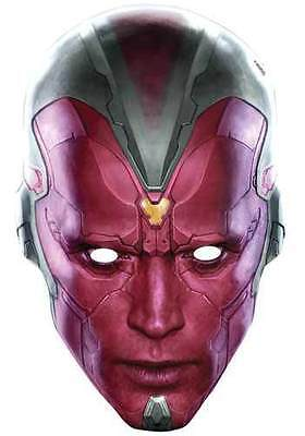Vision Avengers Age of Ultron Marvel Official Single Card Party Face Mask