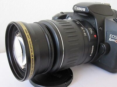 2x Tele Zoom Lens For Canon Eos Digital Rebel t5i sl1 t3i xti  t4i w/18-55