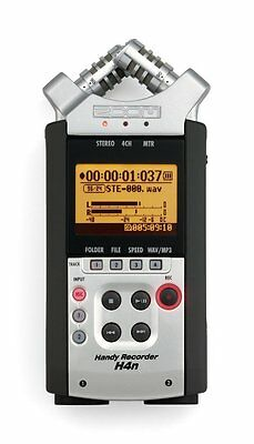 Zoom H4N Handy Portable Digital Recorder (No Mic Clip Adapter) w/ Generic Cables