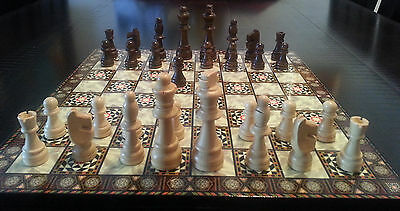 "Chess Set with Wooden Chess Pieces (king size 9 cm/3.54"")"