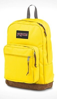 """NWT JANSPORT BLACK LABEL RIGHT PACK 15"""" LAPTOP BACKPACK - YELLOW/AUTHENTIC - $60"""