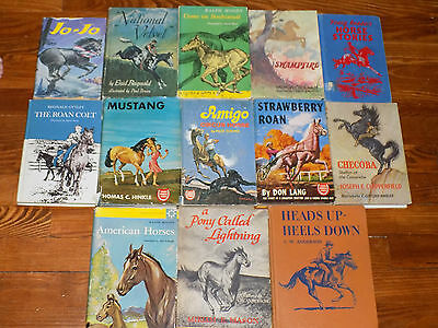 Lot of 15 vintage hardback Horse books - Favorite Horse Stories, Seabiscuit, ...