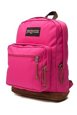 """NWT JANSPORT BLACK LABEL RIGHT PACK 15"""" LAPTOP BACKPACK - PINK - AUTHENTIC - $60"""