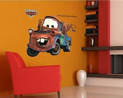 NEW CARS 2 MOVIE Lightning Mater WALL DECALS Sticker Baby Kids Home Art Decor