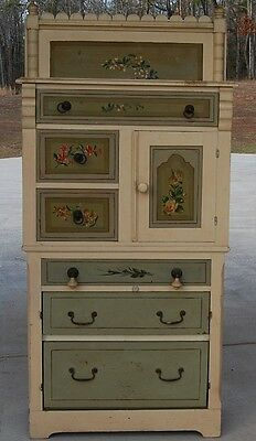 Antique Hardwood Cottage  Chest with 6 Drawers