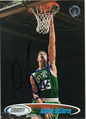 ANDREW DECLERCQ BOSTON CELTICS SIGNED BASKETBALL CARD