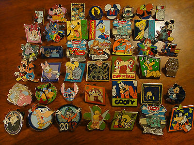 DISNEY PIN TRADING LOT 50 REAL PINS HIDDEN MICKEY COMPLETER STITCH 2014 SET