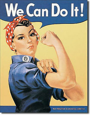 """Rosie the Rivetor Riveter "" We Can Do It,  Metal Tin Sign, Home Decor"