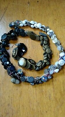Antique Lot Buttons, 1800's EARLY 1900'S Several Hundred, Metal, Glass, OLD OLD