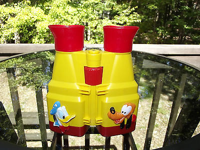 Vintage Illco Plastic Mickey Mouse Donald Duck and Pluto Toy Binoculars
