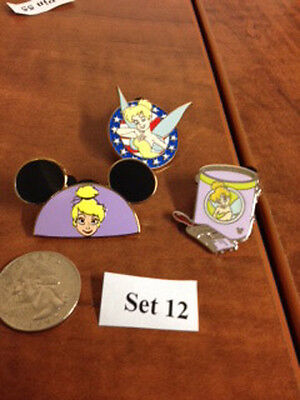 3 Disney pins - Tinker Bell--Mickey ears one is limited edition