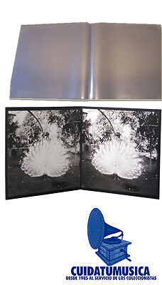 10 Fundas Gatefold Medium Galga 400 Para Disco Vinilo Doble Lp -Carpeta Abierta-