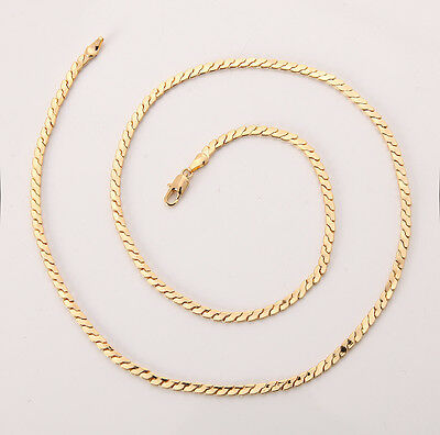 Elegant 18K Solid Yellow Gold Filled GF Necklace Chain For Man As Gifts C145