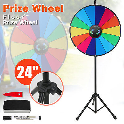 "Prize Wheel 24"" Editable Dry Erase Color Fortune Spinning Game Floor Stand New"
