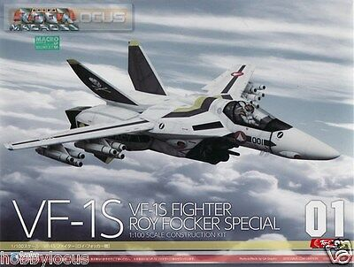 Wave Macross 01 VF-1S Fighter Roy Focker Special Scale 1/100 Construction Kit