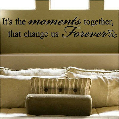 Vinyl Home Room Decor Art Moment Together Letters Wall Decal Removable Stickers