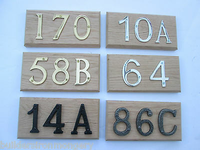 Bespoke Made To Order Solid Oak Wooden House Home Door Number Sign Plaque Plate