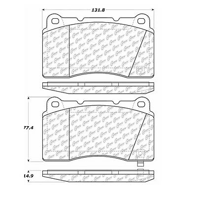 Disc Brake Pad-Posi-Quiet Extended Wear w/Shims-Preferred Front Centric