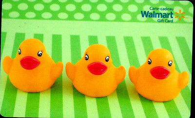 WALMART Limited Edition Kids Ducky Gift Card 2014 New No Value BILINGUAL