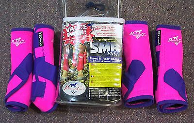 NEW Professionals Choice Elite Sports Medicine Boots Pink/Purple 4 pack Large