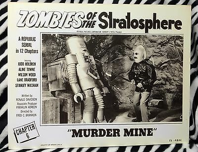 REPRODUCTION ZOMBIES OF THE STRATOSPHERE SERIAL 11x14 LOBBY CARD 1952