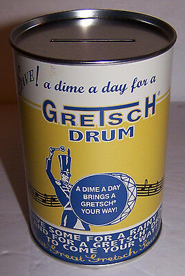 Gretsch Drum Vintage Piggy Bank 1930's Reissue Full Metal - New In Box 4.5""