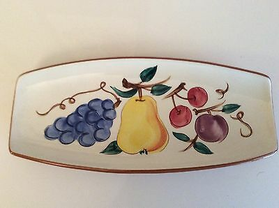 Vintage Stangl Pottery Footed Relish  Dish  in Fruit Pattern
