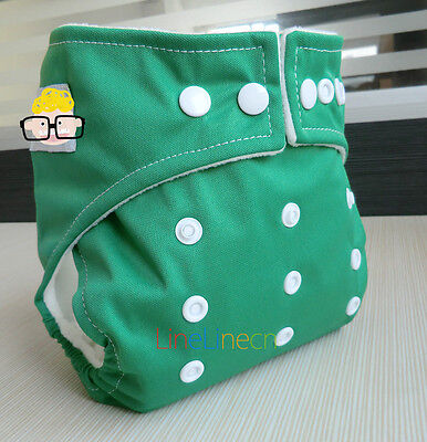 New Green Baby Infant adjustable reusable cloth diaper nappy Pocket cover H02