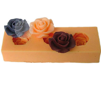 Rose Flower Silicone Mold Mould For Chocolate Craft Clay Fondant Cake Decorating