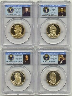 2011 S Presidential Dollar 4 Coin Proof Set PCGS PR69 DCAM $1