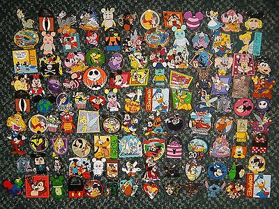100% AUTHENTIC DISNEY PIN LOT 100 PINS HIDDEN CHASER STITCH ARIEL JACK  SET 2014