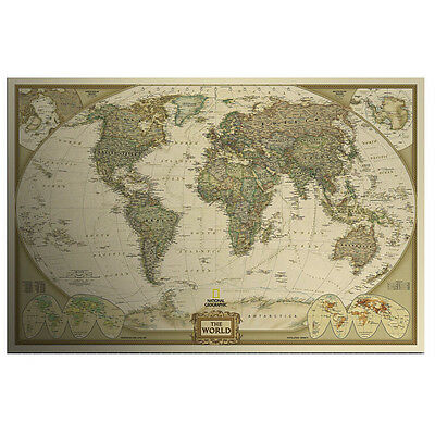 Hot Sale! The World Map Poster 71X46.5cm Paper Giant Wall Chart of the Atlas