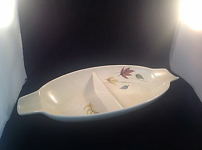 Franciscan Earthenware Cream Fleck Autumn Divided Oblong Bowl 13 3/4""