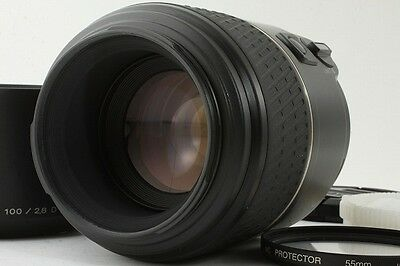 **Mint!!** Minolta macro100 mm F/2.8 AF D with Hood & Filter From Japan #199