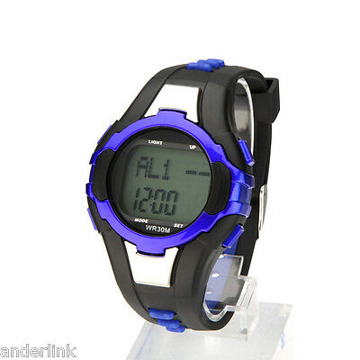 Pulse Heart Rate Monitor Calorie Counter Outdoor Fitness Sport Wrist Watch AL