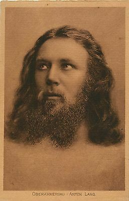 EARLY 1900S POSTCARD GERMAN ACTOR ANTON LANG IN OBERAMMERGAU PASSION PLAY