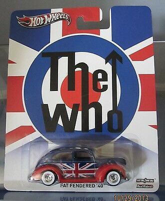 """HOT WHEELS """"THE WHO"""", Real Riders, Metal/Metal...Fat Fendered '40"""