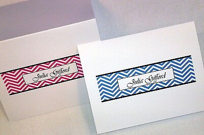 40 Personalized Chevron Thank You Note Cards Stationery Envelopes, Shower Gift