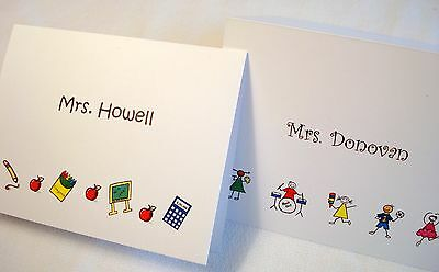 12 Personalized Thank You Note Cards Stationery & Envelopes Custom Teacher Gift